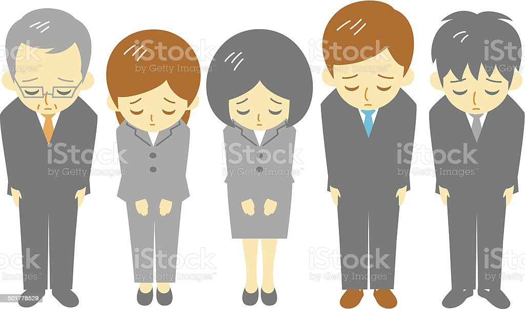 office workers, apologize vector art illustration