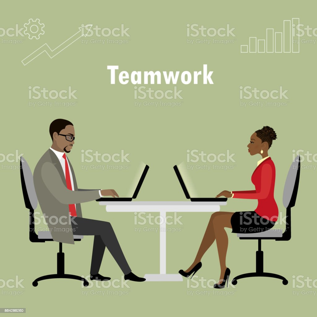 Office workers or business people sitting at the table royalty-free office workers or business people sitting at the table stock vector art & more images of adult