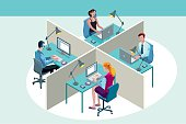 istock Office Workers Sitting at Their Desks 524542191