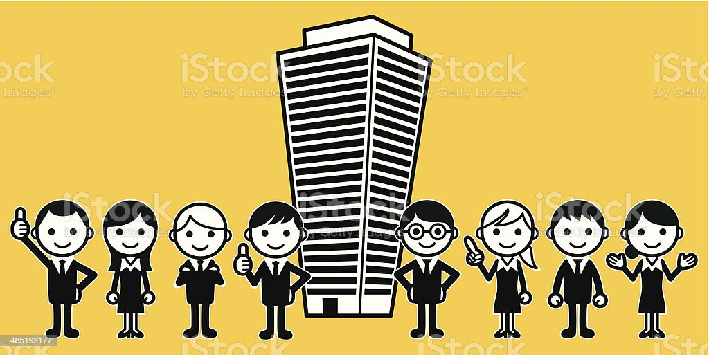 Office workers royalty-free office workers stock vector art & more images of achievement