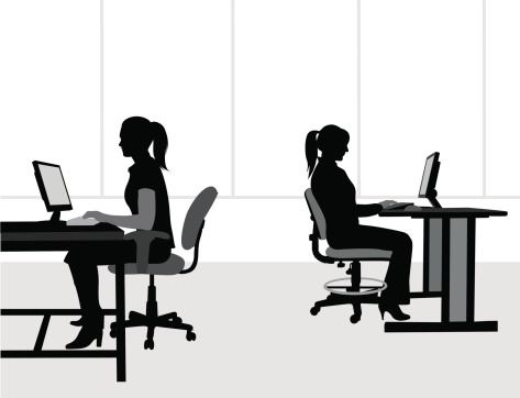 Office Workers Vector Silhouette