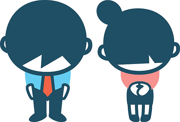 office workers,apologize vector art illustration