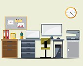 Office Working Table Icon