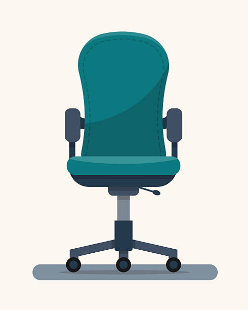 Office workplace chair with quote on paper. Office workplace chair with quote on paper. Flat style vector illustration. office chair stock illustrations