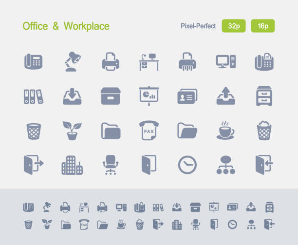 büro & arbeitsplatz - granit-symbole - schrankkorb stock-grafiken, -clipart, -cartoons und -symbole