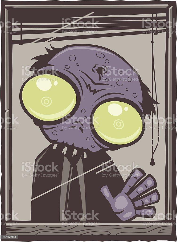 Buro Cartoon Zombie Stock Vektor Art Und Mehr Bilder Von