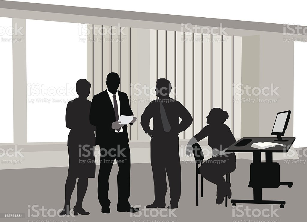 Office'n LCD Vector Silhouette royalty-free officen lcd vector silhouette stock vector art & more images of adult