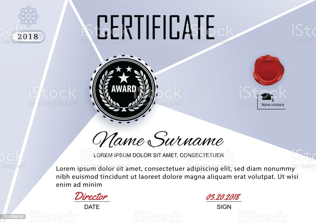 Official Certificate Of Appreciation Award Template With Grey And