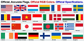 Official Flags (Official RGB Colors, Official Specifications)