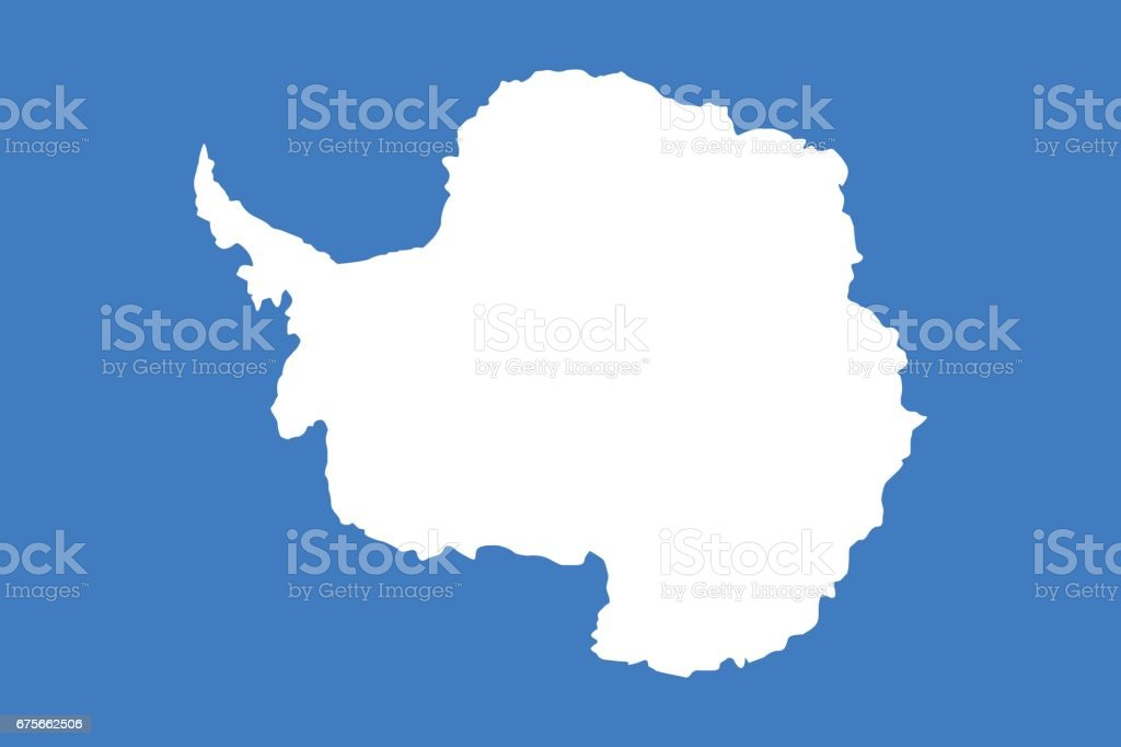 Oficial vector bandera de la Antártida. - ilustración de arte vectorial