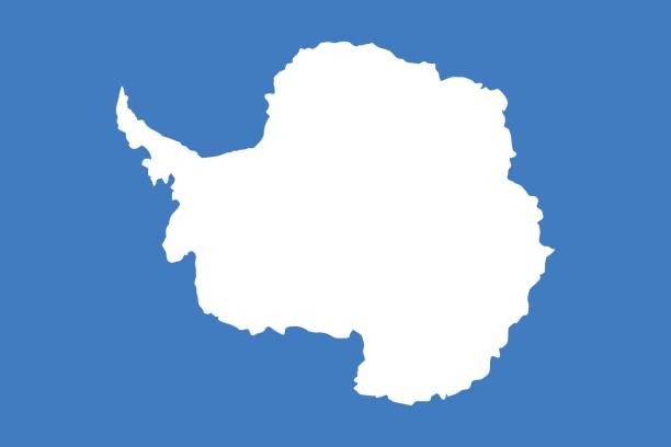 Offizielle Vektor Flagge der Antarktis. – Vektorgrafik