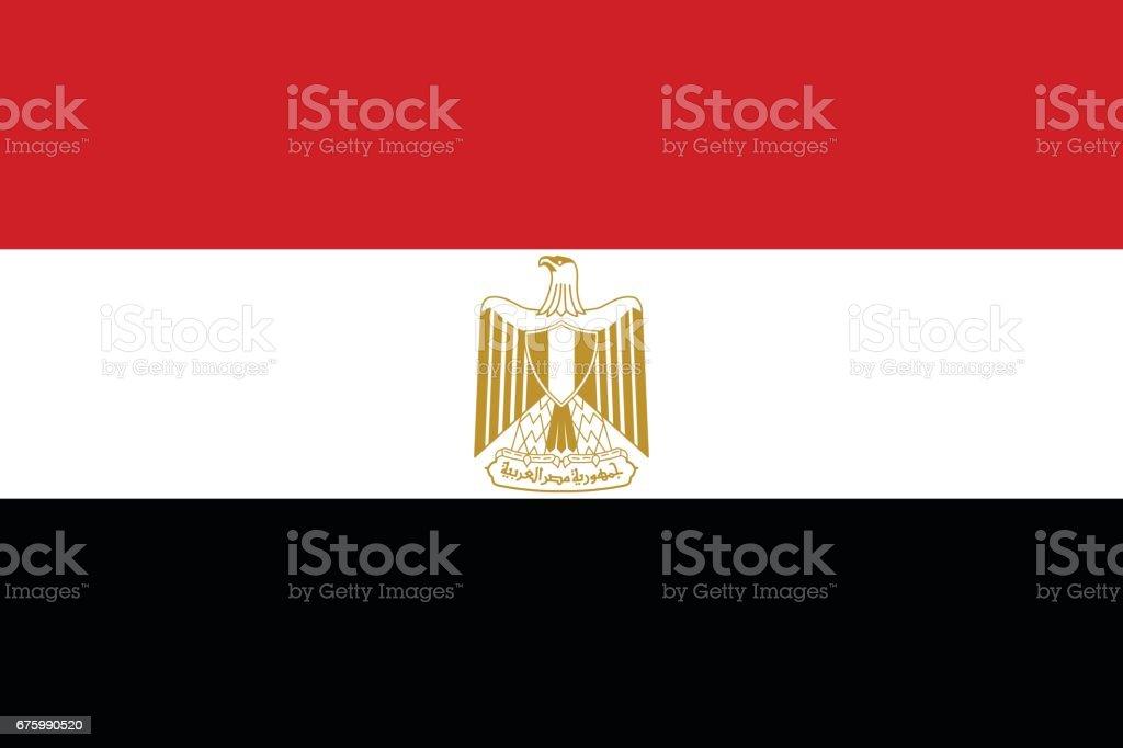 Official vector flag of Arab Republic of Egypt . vector art illustration