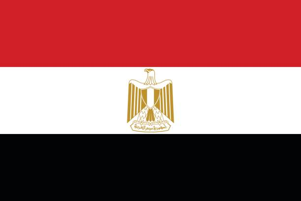 Official vector flag of Arab Republic of Egypt . Official vector flag of Arab Republic of Egypt . egypt stock illustrations