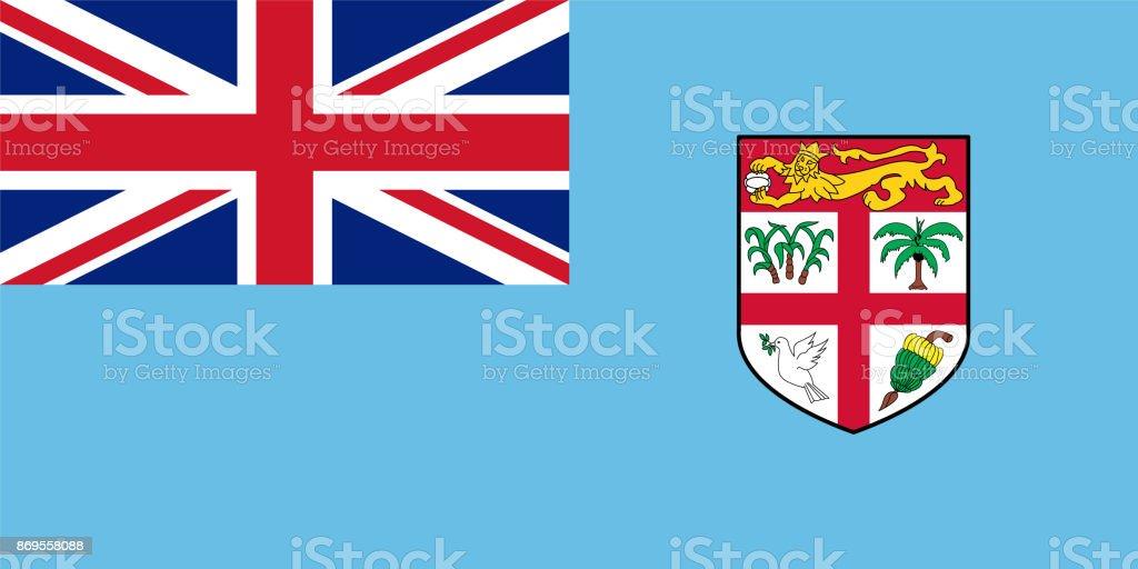 Official vector flag of Fiji vector art illustration