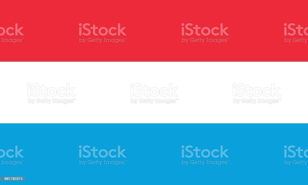 Officiële vector vlag van Luxemburg. Groothertogdom Luxemburg.vectorkunst illustratie