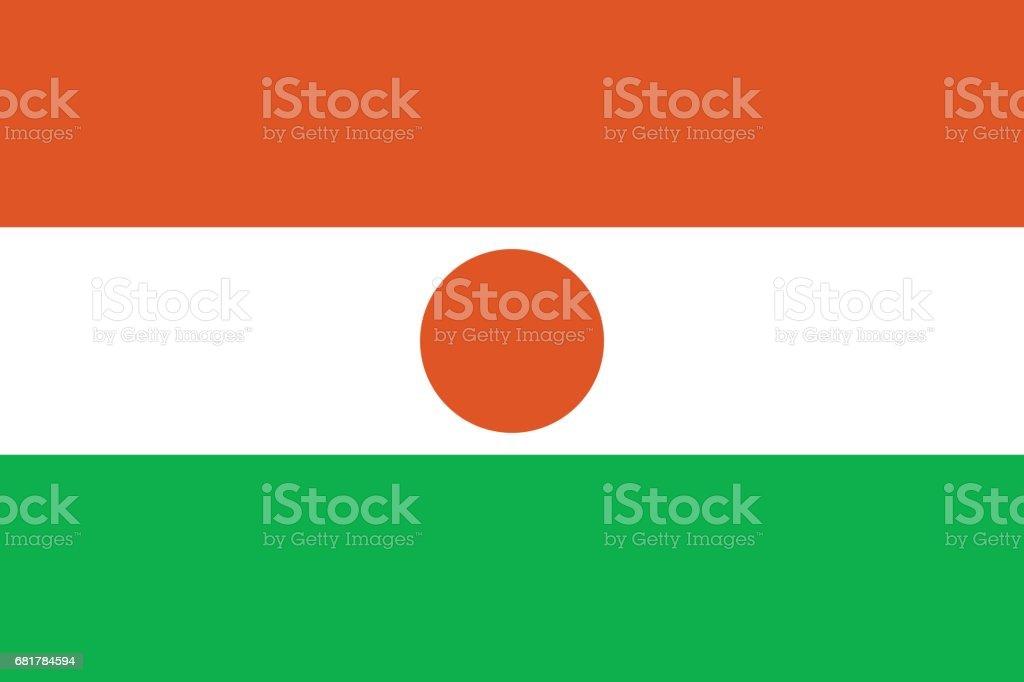 Official vector flag of Niger . Republic of Niger . vector art illustration