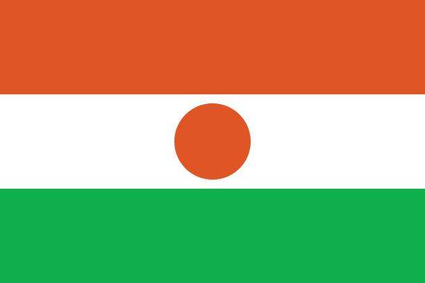 Official vector flag of Niger . Republic of Niger . vector art illustration