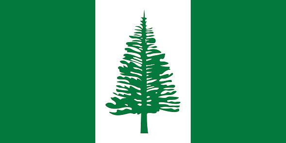 Official vector flag of Norfolk Island .