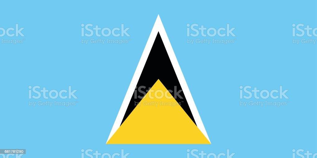 Official vector flag of Saint Lucia . vector art illustration