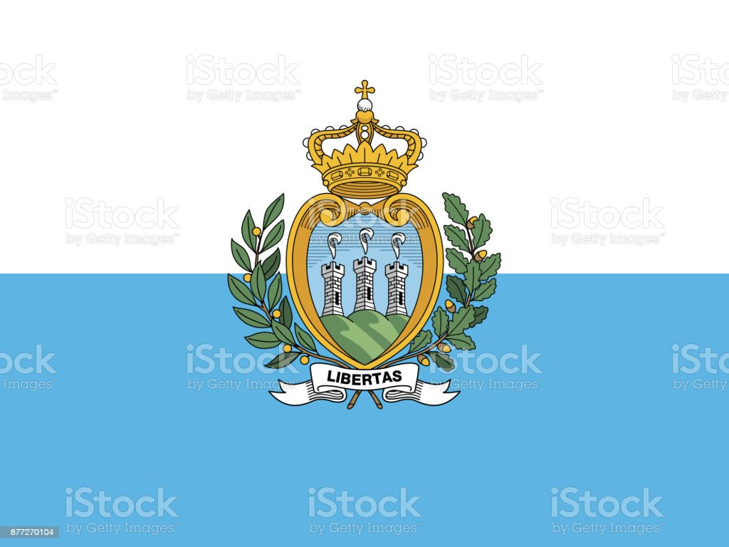 Official vector flag of San Marino vector art illustration