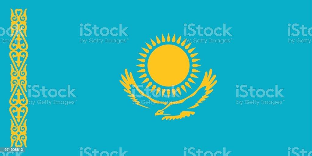 Official vector flag Republic of Kazakhstan .