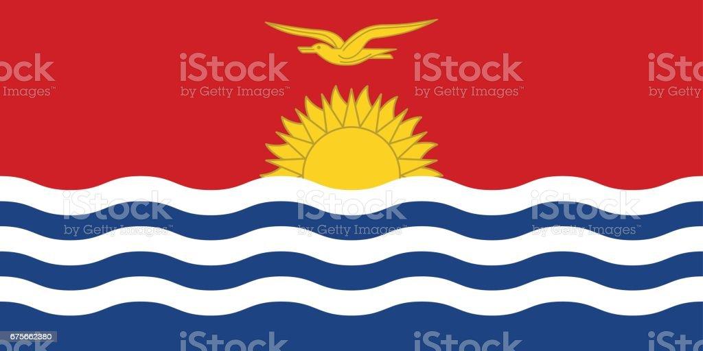 Official vector flag Republic of Kiribati . royalty-free official vector flag republic of kiribati stock vector art & more images of accuracy