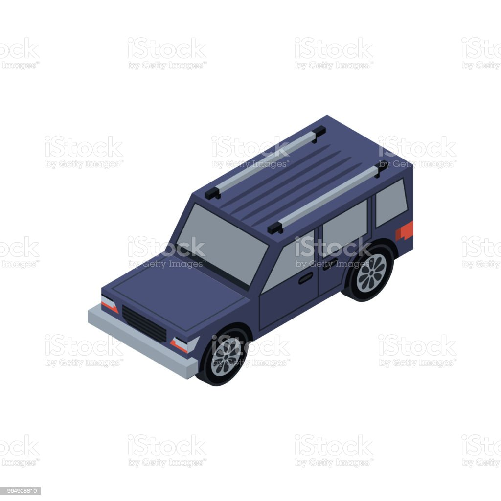 Offroad car isometric 3D element - Royalty-free Car stock vector
