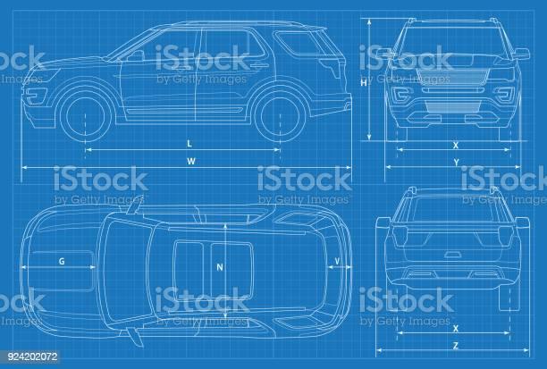 Blueprint,automobile,technical,drawing,design - free photo