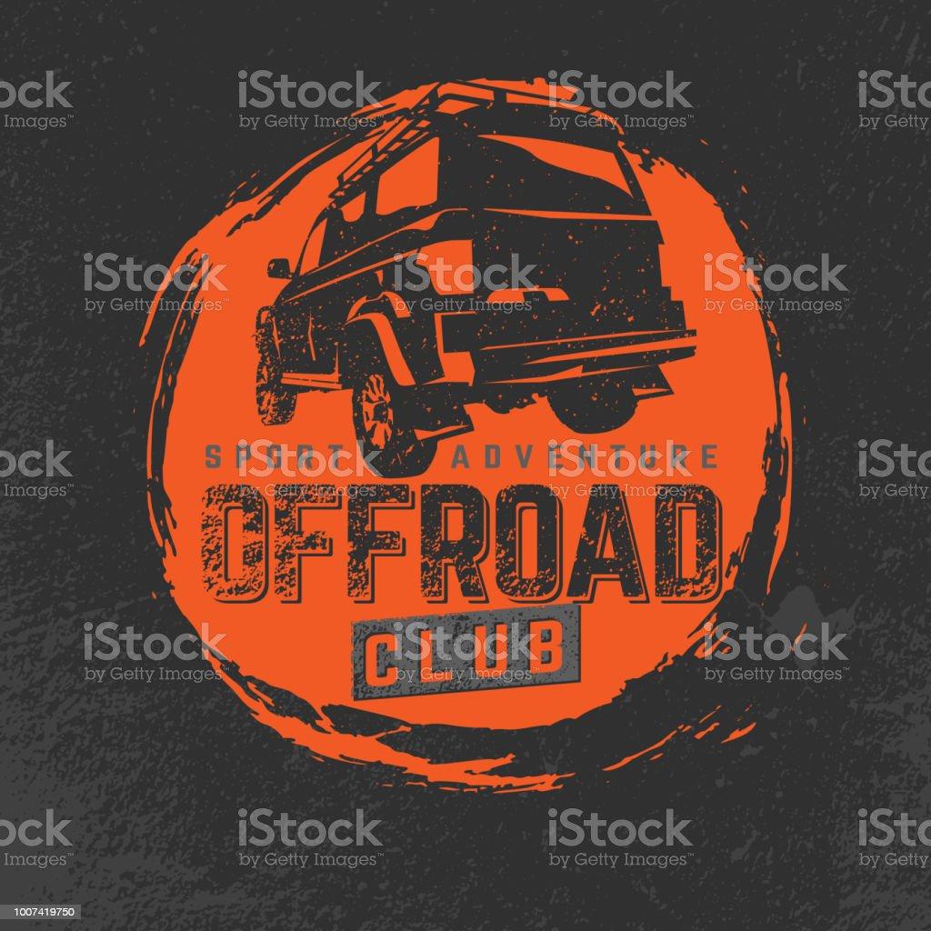 Off-road Club vector art illustration