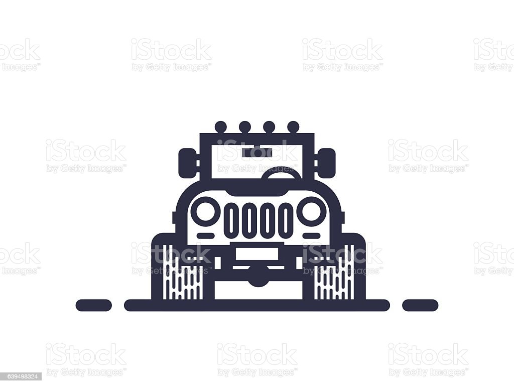 Offroad concept vector art illustration
