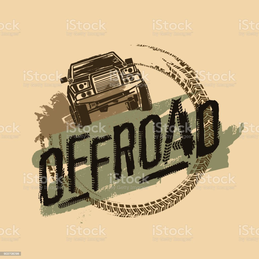 Off-Road Logo Image vector art illustration