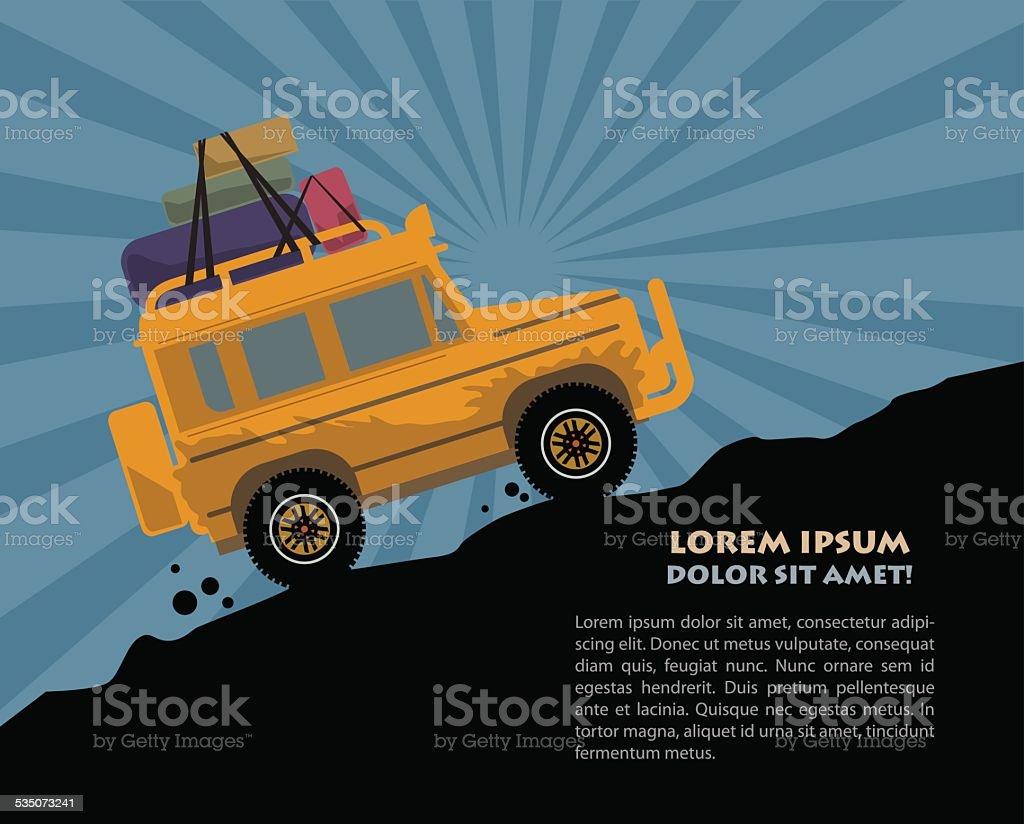 Off-road vehicle vector art illustration