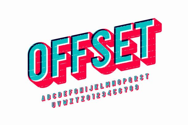 Offset print style font