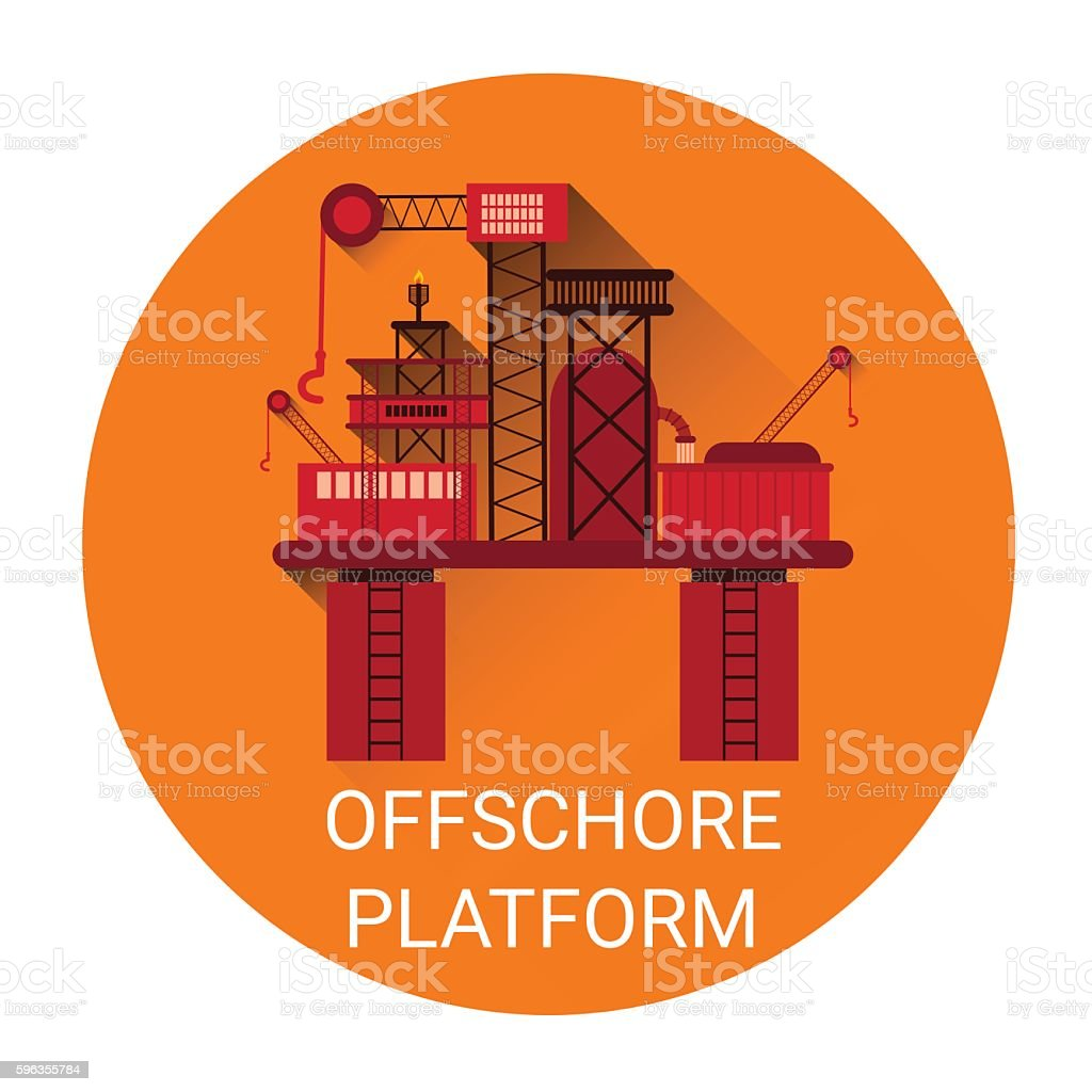 Offshore Platform Icon royalty-free offshore platform icon stock vector art & more images of backgrounds