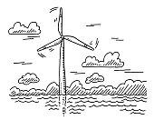 istock Offshore Wind Turbine Drawing 1313645836