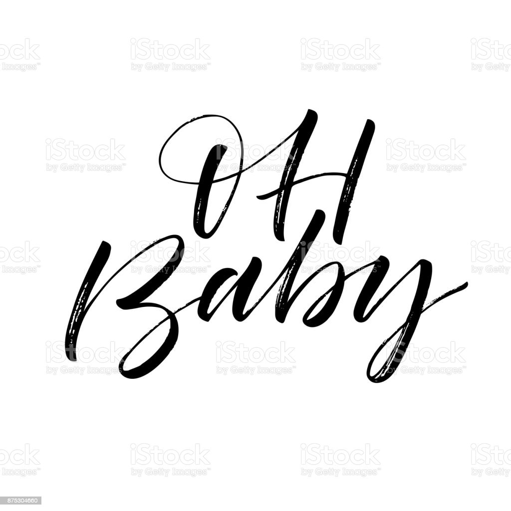 Oh baby card. vector art illustration