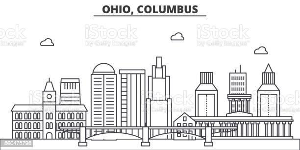 Ohio columbus architecture line skyline illustration linear vector vector id860475798?b=1&k=6&m=860475798&s=612x612&h=8i6 xrr8fcenggtb mbjsqo5bafedbfce8pyskskggg=
