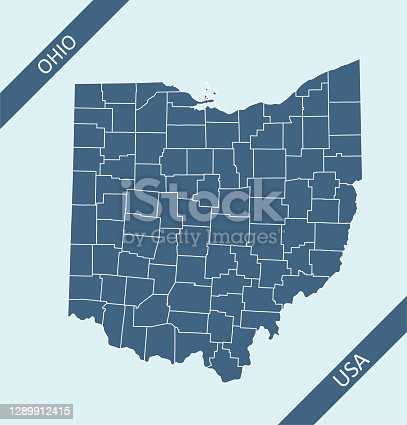 Highly detailed downloadable and printable map of Ohio counties state of United States of America for web banner, mobile, smartphone, iPhone, iPad applications and educational use. The map is accurately prepared by a map expert.