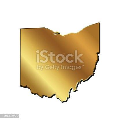 186827106istockphoto Ohio gold map vector illustration 959367272