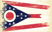 Flag of Ohio with a texture.