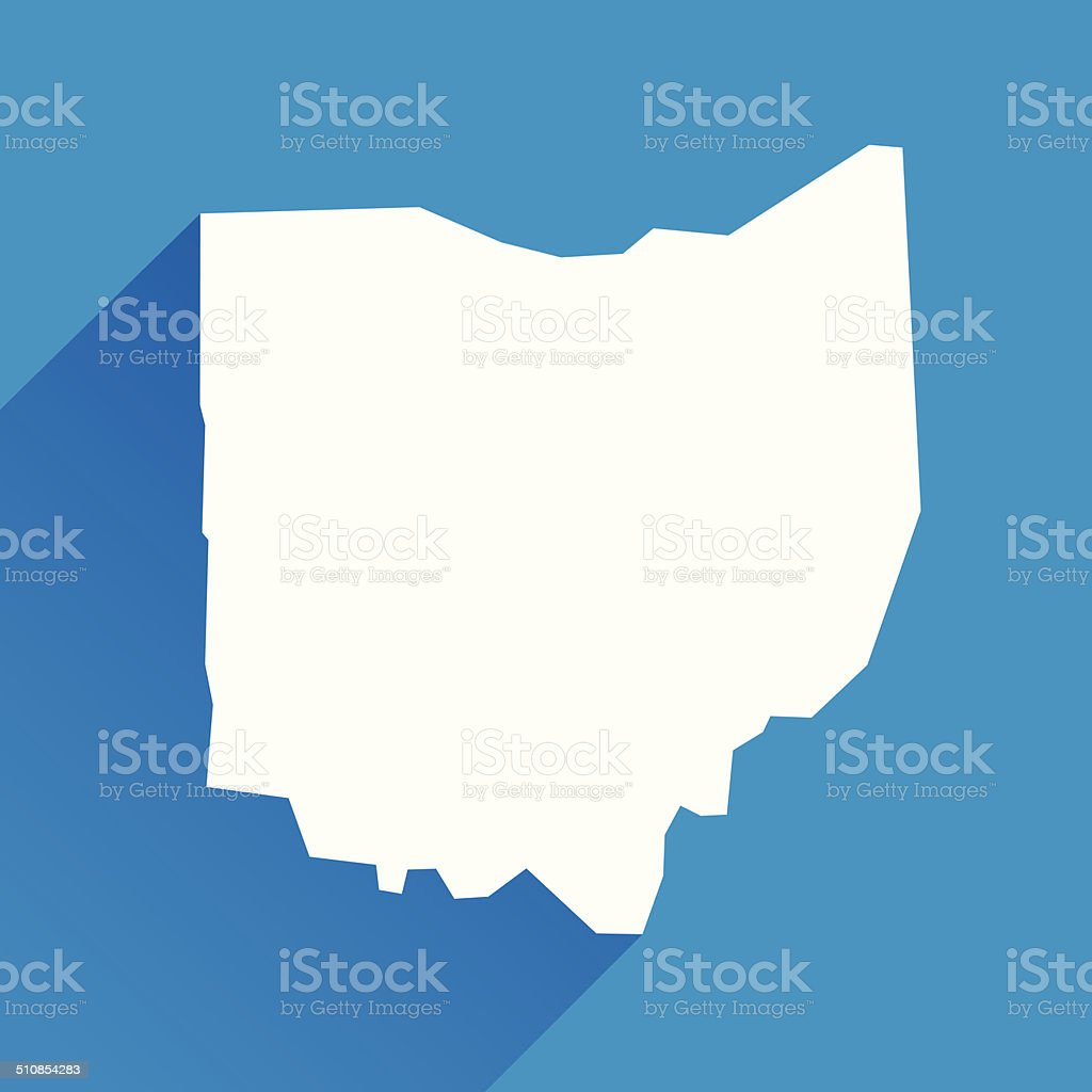 Ohio Icon vector art illustration