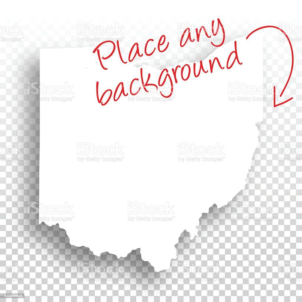 Ohio Map for design - Blank Background vector art illustration