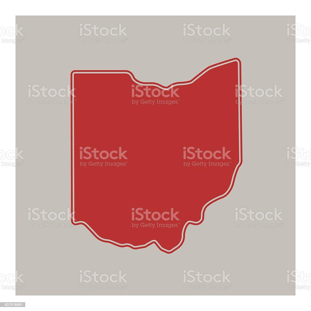 Ohio State Vector vector art illustration