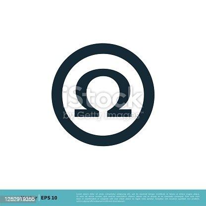 Ohm / Omega Icon Vector Logo Template Illustration Design. Vector EPS 10.