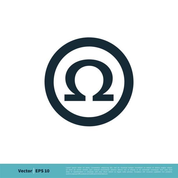 bildbanksillustrationer, clip art samt tecknat material och ikoner med ohm / omega icon vector logo mall illustration design. vektor eps 10. - omega 3