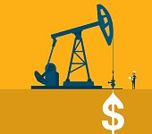 Oil Industry Pumpjack With Businessman