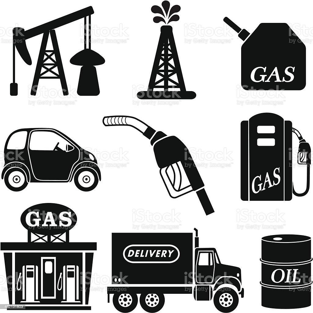 oil and gas industry icons royalty-free stock vector art