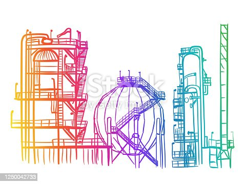 istock Oil And Gas Refinery Rainbow 1250042733