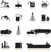 Oil and Petrol Industry Icon Set