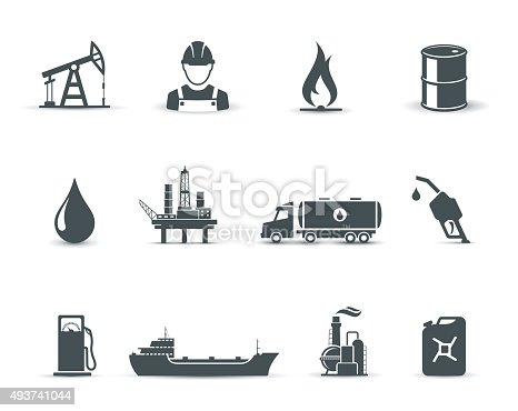 Collection of universal oil and petroleum icons